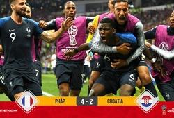 Video: Đánh bại Croatia trong cơn mưa bàn thắng, Pháp lần thứ 2 vô địch World Cup