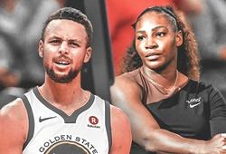 Stephen Curry xoa dịu  Serena Williams sau chung kết Mỹ Mở Rộng