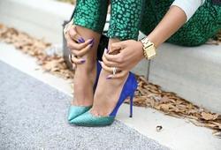 Nỗi lo giày cao gót làm to bắp chân