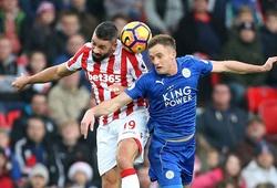 Video: Vardy lãnh thẻ đỏ, Leicester vẫn rời Britannia với 1 điểm