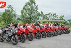 """Dàn siêu môtô Ducati Panigale """"quần hùng"""" tại Hà Nội"""