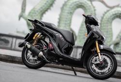 Honda SH độ khủng lầm lỳ hơn trong sắc đen bóng