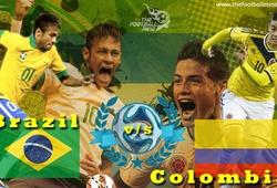 Link xem trực tiếp trận đấu giữa Brazil và Colombia