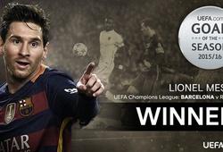 Lionel Messi giành giải bàn thắng đẹp của năm