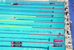 Nguyễn Thành Trung phá kỷ lục của chính mình ở nội dung 100m ếch