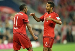 Thiago và Costa khoe kỹ năng siêu hạng trên sân tập
