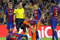 """""""Bão chấn thương"""" tàn phá hàng thủ Barcelona"""