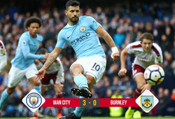 Kết quả bóng đá: Aguero ghi bàn lịch sử giúp Man City bỏ xa Man Utd 5 điểm