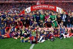 Barca hát vang bài ca chiến thắng trong ngày giành Cúp nhà Vua