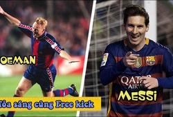 Koeman, Messi và những cú sút phạt giống nhau đến ngỡ ngàng