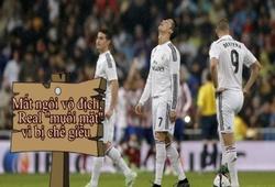 Mất ngôi vô địch trước Barca, Real muối mặt vì bị chế giễu