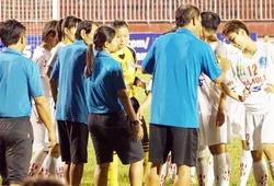 Giải VĐQG nữ 2016: Trận đấu giữa Hà Nội I và TP.HCM II suýt vỡ