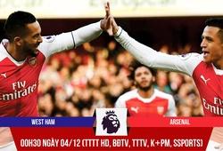 West Ham - Arsenal: Anh sẽ đòi quà