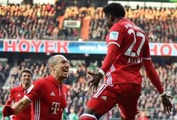 Video: Alaba lập siêu phẩm, Bayern Munich thắng nhẹ Werder Bremen