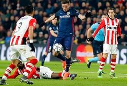02h45 (ngày 16/3), Atletico - PSV: Griezmann bắn tan cối xay gió