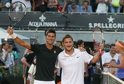 Totti và Djokovic song ca trên mặt sân đất nện