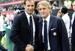 """Massimiliano Allegri và Roberto Mancini: Hai ông thầy giỏi """"ăn vụng"""""""