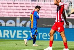 Messi bỏ lỡ siêu phẩm cho Barca trước Atletico Madrid