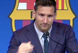 Messi nghẹn ngào trong cuộc họp báo chia tay Barcelona