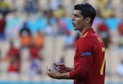 """Morata lại sắm vai """"chân gỗ"""" của Tây Ban Nha trong vòng 10 ngày"""