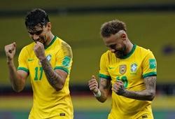 Neymar ghi bàn cho Brazil sau 2 quả penalty liên tiếp