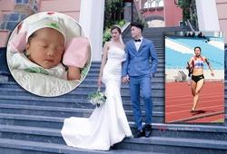 """Hoa khôi điền kinh Nguyễn Thị Oanh chào đón """"thiên thần"""" đầu lòng"""