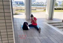 """Quách Thị Lan """"bơ vơ tập chay"""" ở Làng VĐV Olympic Tokyo 2021"""