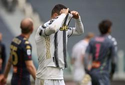 Ronaldo bỏ lỡ cơ hội ghi bàn đáng xấu hổ với Juventus