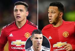 Ronaldo ghi bao nhiêu bàn so với các cầu thủ mặc áo số 7 của MU?