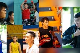 Nguyễn Trần Duy Nhất, Hữu Hiếu và Hoàng Phi hừng hực khí thế trước giờ lên sàn giải Muay VĐQG 2020