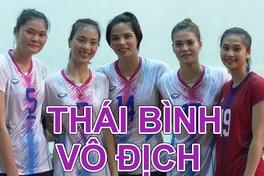 """""""Lão tướng"""" Bùi Thị Huệ tỏa sáng giúp Thái Bình vô địch giải bóng chuyền hạng A 2020"""