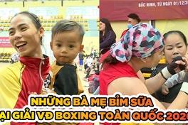"""Chuyện lạ những """"bà mẹ bỉm sữa"""" so găng tại giải VĐ Boxing Toàn quốc 2020"""