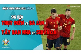Nhận định EURO 2021| Bảng E: Soi kèo Thụy Điển vs Ba Lan, Soi kèo Tây Ban Nha vs Slovakia