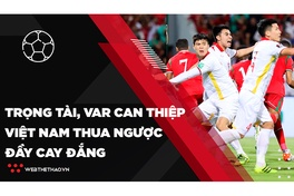 Trọng tài và VAR can thiệp, đội tuyển Việt Nam thua ngược đầy cay đắng | Bóng đá