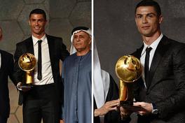 """Hụt bóng vàng, Ronaldo được an ủi bằng giải thưởng """"Toàn cầu"""""""