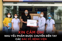 Đợt 1 trao tặng nhu yếu phẩm chiến dịch XIN CẢM ƠN tới tay y bác sỹ Bệnh viện Mê Linh