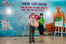"""Webthethao, Công Vinh, MC Trấn Thành và nhiều VĐV, nghệ sĩ cùng  HTV """"chung một tấm lòng"""" mua vắc-xin COVID-19"""