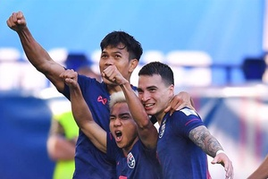 Asian Cup 2019: Các cầu thủ ĐT Thái Lan ăn mừng Viking sau trận thắng ĐT Bahrain