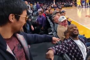 Mayweather chạm mặt Pacquiao trên sân đấu NBA