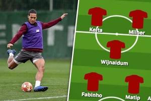 Mất Van Dijk, Liverpool sẽ ra sân với đội hình nào đối đầu Bayern?