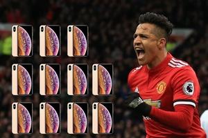 Chỉ 1 phút đá cho Man Utd, Alexis Sanchez có thể mua 11 chiếc Iphone XS 64GB
