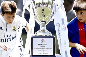 Màn đọ tài siêu kinh điển Barcelona vs Real Madrid phiên bản nhí