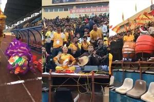 Màn múa lân và hầu đồng trước trận Nam Định vs Sài Gòn tại vòng 1 V.League 2019