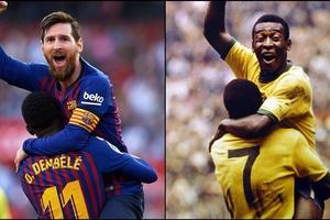 Lập hat-trick thần thánh, Messi đang đứng ở đâu trong danh sách các chân sút vĩ đại?
