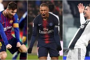 Ronaldo xếp sau Messi và Mbappe trong cuộc đua Chiếc giày vàng châu Âu