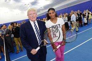 Tổng thống Mỹ Donald Trump và Serena Williams từng đối đầu trên sân quần vợt