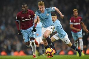 Video Man City 1-0 West Ham (Vòng 28 Ngoại hạng Anh)