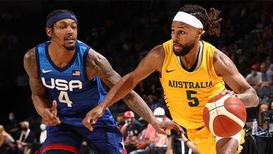 Trực tiếp bán kết bóng rổ Olympic 2021: Mỹ vs Úc (11h15, ngày 05/08/2021)