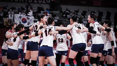 Đại diện bóng chuyền nữ châu Á - Hàn Quốc hiên ngang vào bán kết