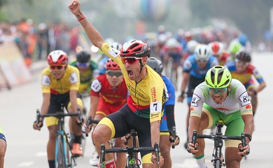 Tay đua Javier Sarda Perez nhất chặng 3 giải xe đạp Cúp Truyền hình HTV 2021